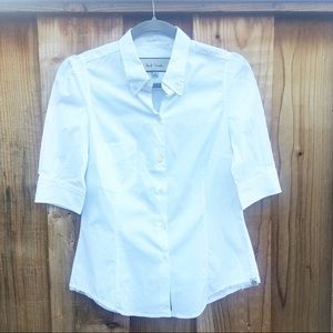 Paul Smith Women's White Button Up Blouse 44